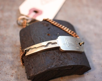 Number 4 Key Chain Bracelet