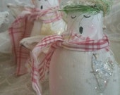 MAILED Angel Christmas Ornament and How to make Bottle Brush Tree Pattern