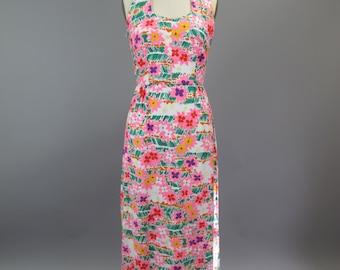 1970s Cotton Halter Maxi Dress