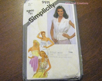 Vintage 1981 Simplicity 9971 Misses Pullover Camisoles and Unlined Jackets Pattern Uncut