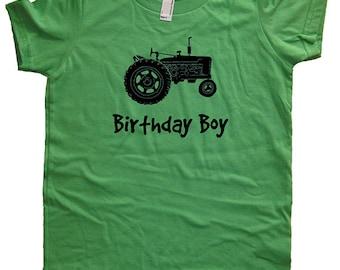 Birthday Shirt Tractor Kids Farm Farming Tractor Birthday Boy Tee - Multiple Colors - Kids Tshirt Sizes 2T, 4T, 6, 8, 10, 12 - Gift Friendly