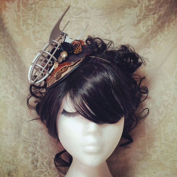 Steampunk Fascinator, Steampunk Headband, Steampunk Hat, Fascinator, Steampunk Wedding, Airship, Dirigible, Zeppelin, Pirate, Gothic Lolita