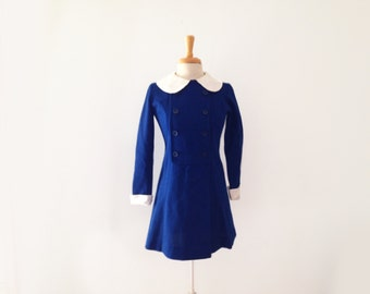 1960s AnR juniors contrast peter pan collar dress size xsmall or small