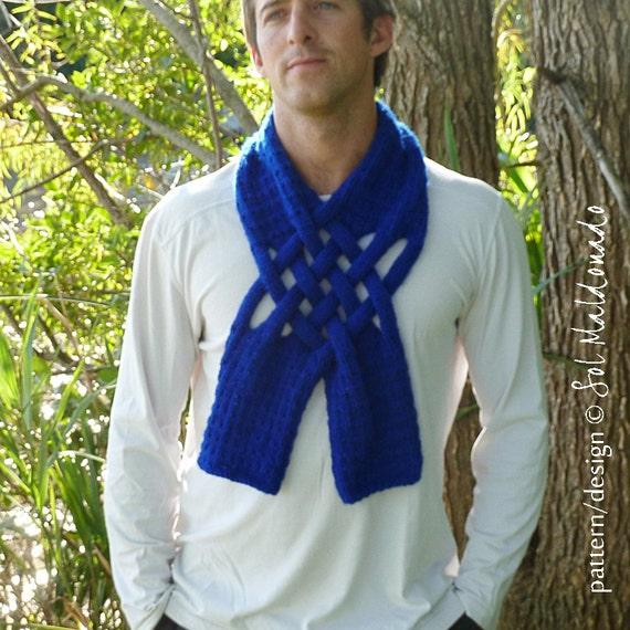Scarf Knit Pattern Weave PDF - Man neckwarmer Men - Unisex knitting pattern PHOTO tutorial - Instant DOWNLOAD