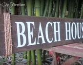 Beach House Sign ~Wall Decor~Coastal Nautical Home~Potrery Barn Style~Jute Rope
