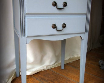 Blue Gray NIghtstand Side Table