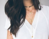 Lariat Necklace, Y Necklace, Gold Coin Necklace, Modern Lariat, Silver Coin Necklace, Minimal Necklace, Layering Necklace Pendant Necklace