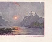 Land of the Midnight Sun- 1900s Antique Postcard- Arctic Circle- Alaska Landscape- American Journal- Souvenir Card- Paper Ephemera- Unused