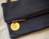 Crossbody Purse / Foldover Clutch - Italian Leather (multiple colors)