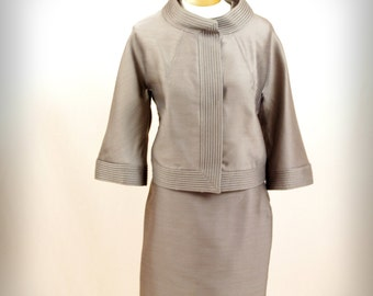 1960s Suit *  60s  Suit * Bramson Suit * Jackie O Suit * Mad Men Suit * Brown Suit * Wiggle Skirt