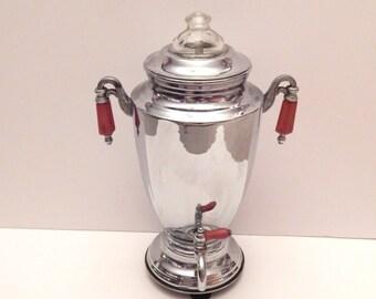 Art Deco Coffee Pot - Vintage Percolator - Chrome Percolator - Forman Bros Coffee Pot - Bakelite Handles