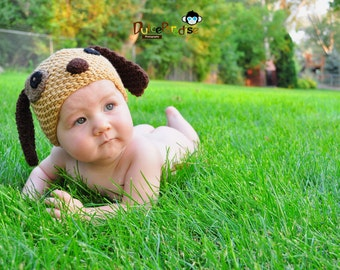 newborn hat, puppy newborn/ baby hat, photography props, newborn photo prop, newborn boy, newborn knit hat, newborn girl, newborn boy prop