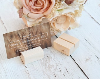 Unfinished Wood Place Card Holders Wedding Place Card Holders Buisness Card Holder Unfinished Wood Card Holders Wedding Place Cards