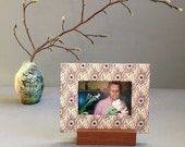 Peacock Frame, Feather Frame, Wedding Gift, Bridal Shower, Purple Frame