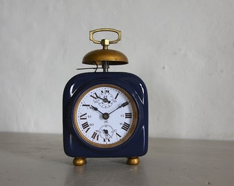 Antique Alarm Clock , Industrial Loft Deco Bell Alarm Upcycled