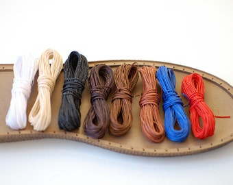 Waxed Thread for shoemaking 10m - waxed thread for hand sewing braided