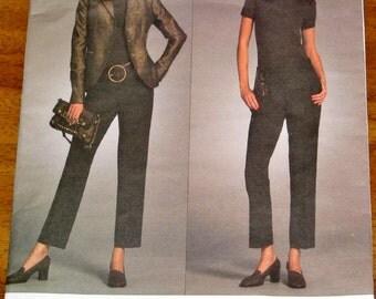 Vogue American Designer 2986 Michael Kors Princess Jacket, Tapered Pants, Women's Sewing Pattern Size 6-12 Bust 30-34 Uncut Factory Folds