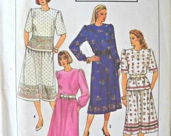 Simplicity 9310, Misses/Miss Petite Two Piece Dress pattern, sizes 14-20, Vintage 1989