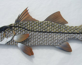 Miller Lite Bottle Cap Art Snook Fish Metal Wall Art