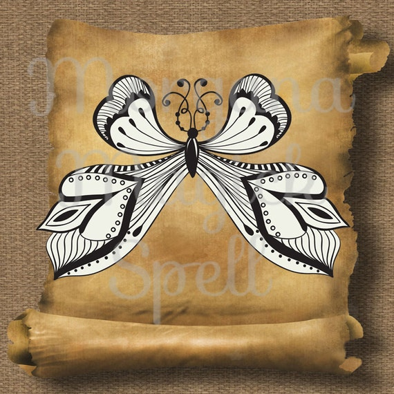 Butterfly Stamp  Royalty Free Clip Art