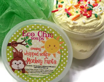 Monkey Farts Whipped Soap - Creamy Soap in a Jar - Body Wash - Holiday Gift Soap