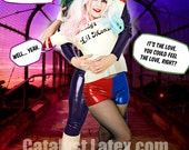 Latex Harley Quinn Hot Pants