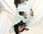 Dachshund sweater of warm soft wool blend machine wash dry