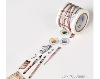 Artist Paint Stuff Washi Tape (30mm X 7M)