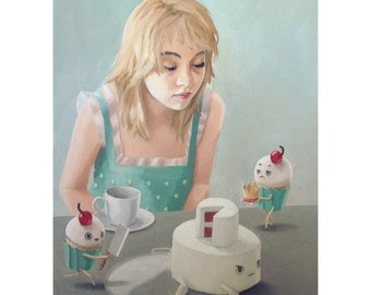 Let Them Eat Cake. print of an original oil painting