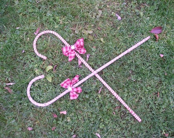 Big Primitive Decorative Candy Canes with bow