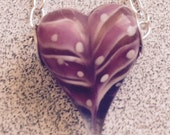 Lampwork Pink Heart Necklace