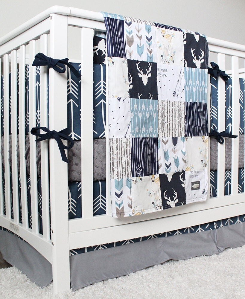 Arrow Crib Bedding Woodlands And Arrow Baby Boy Bedding