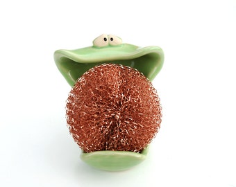 SpongeMonster - Grass Green - GREAT for holding your sponge or soap on the sink in your kitchen