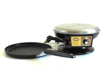 Sunbeam M'sieur Crepe Electric Crepe Maker 1970s Kitchen Small Appliances