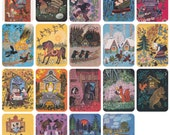 Y. Vasnetsov -- Russian Folk Tales and Songs. Complete Set of 18 Postcards in original cover -- 1975. Perfect condition