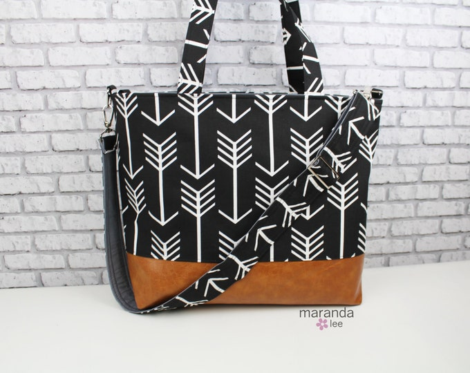 Extra Large Lulu Tote Black Arrow - READY to SHIP