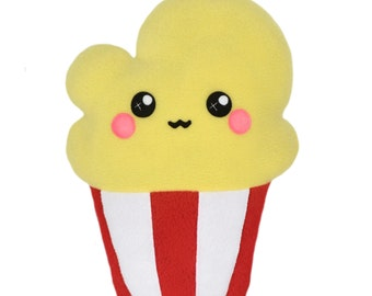 Popcorn kawaii plushie - novelty pillow - home decor