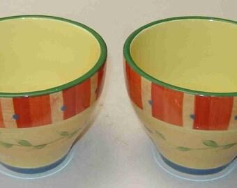 "PFALTZGRAFF Set of Two (2) ""NAPOLI"" XL 16oz Soup/Coffee Mugs - Hand Painted - New"