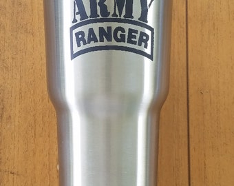 Army Ranger Personalized Laser Engraved 30 oz RTIC Tumbler Stainless Steel