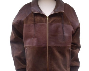 Ladies recycled leather jacket
