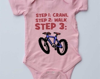 Baby One-piece-MOUNTAIN BIKE BABY-Baby Girl,baby boy-Baby gift,mountain bike gift,new parents gift,shower gift,gender reveal,fathers day