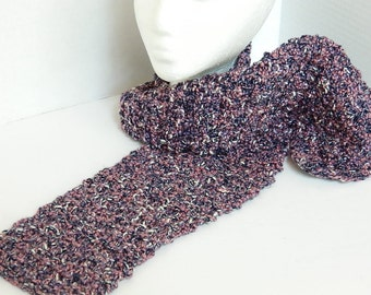 Womens' Knitted Scarf - Navy and Pink Scarf - Hand Knit Ladies Accessories - Long Textured Scarf - OOAK Ladies Wrap - Mother's Day Gift