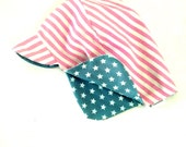 4th of July Hat, Patriotic Kids Hat Red White and Blue, Stars and Stripes kids sun hat, Reversible sun hat, baby Sun Hat, 4th of July Gift