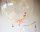 Balloons XL with Confetti Tissue Tassel Baker's Twine Birthday Balloons Balloon Bouquet Kit Balloon Confetti Tissue Confetti Tissue Tassels