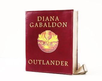 Outlander Leather Book Bag Vinous Leather Book Purse