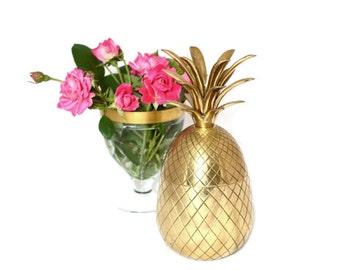 Gold Wedding Pineapple Box Brass Pineapple Box Pineapple Wedding Decor Gold Wedding Decor