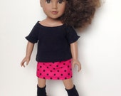 18 Inch Doll Knit Top and Skirt Outfit