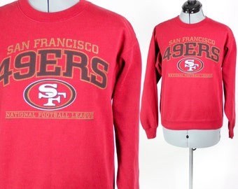 Vintage Retro Red NFL San Fransisco 49ers Sweatshirt Small