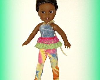"""14 Inch Doll Clothes by traveller240, Halter Top, Leggings Fit 14.5"""" Dolls such as Wellie Wishers from American Girl"""