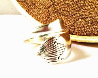 Wrapped Spoon Ring, Size 7, Upcycled Eco Friendly Ring